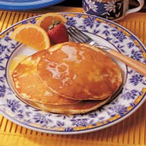 Sunrise Orange Pancakes Recipe
