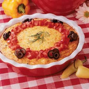 Crustless Cheese Quiche Recipe