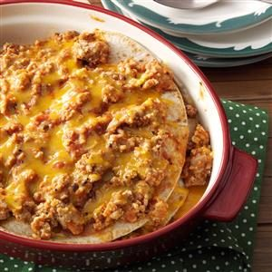 Turkey Enchilada Stack