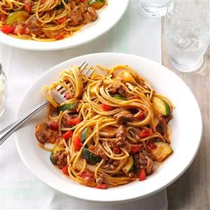 Hearty Garden Spaghetti Recipe