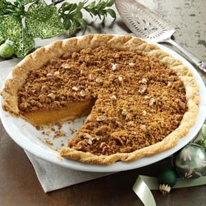 Ginger Pumpkin Pie with Streusel Recipe