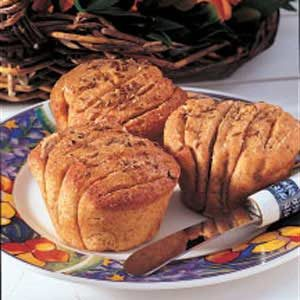 Accordion Rye Rolls Recipe