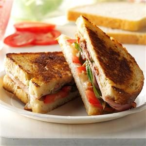 Grilled Pesto Ham and Provolone Sandwiches