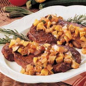 Steak with Squash Medley Recipe