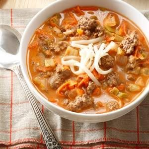 Stuffed Sweet Pepper Soup Recipe