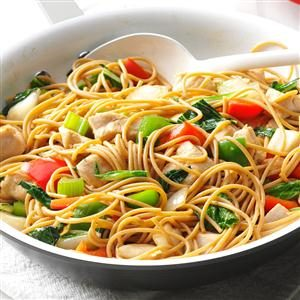 Chicken Stir-Fry with Noodles Recipe