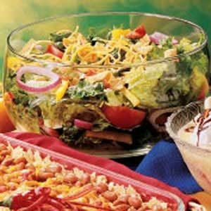 Salsa Tossed Salad Recipe