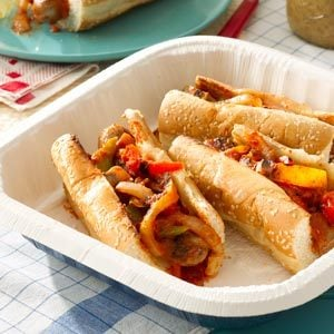 Grilled Sausage & Pepper Heroes Recipe