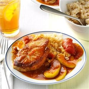 Pork Chops with Tomato Curry Recipe