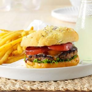 Whiskey Cheddar Burgers Recipe