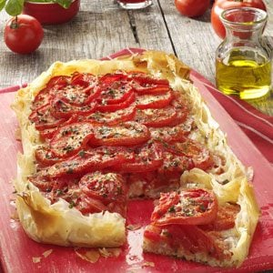 Rustic Tomato Cheese Tart Recipe
