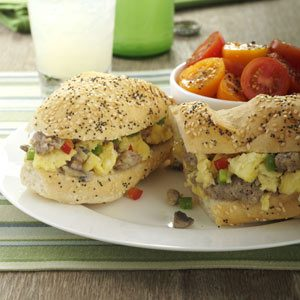 Sausage Egg Subs Recipe
