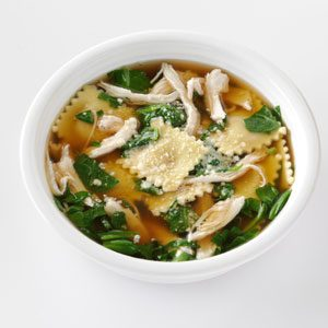 Quick Ravioli & Spinach Soup Recipe