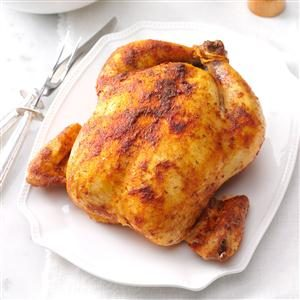 Savory Rubbed Roast Chicken Recipe