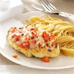Bruschetta-Topped Chicken & Spaghetti Recipe