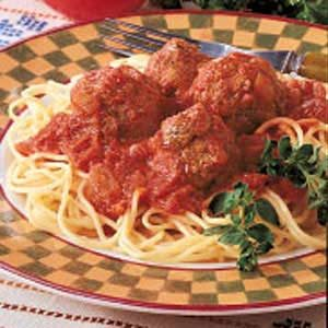 Italian Spaghetti 'n' Meatballs Recipe photo by Taste of Home