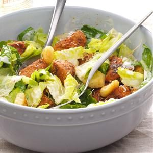 Blackened Pork Caesar Salad Recipe