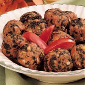 Spinach Turkey Meatballs Recipe