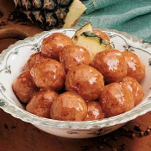 Glazed Ham Balls Recipe