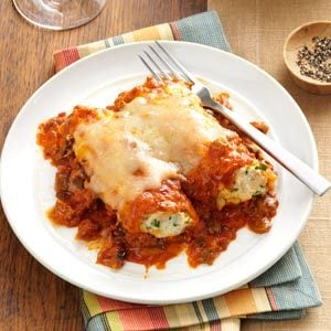 Slow Cooker Two-Meat Manicotti Recipe