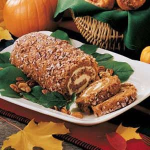 Nutty Pumpkin Cake Roll