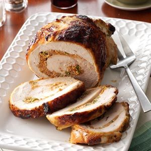 Stuffed Turkey with Mojo Sauce Recipe
