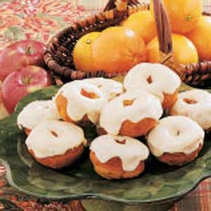 Frosted Pumpkin Doughnuts Recipe