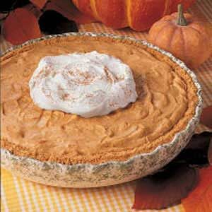 Sugar-Free Pumpkin Chiffon Pie Recipe