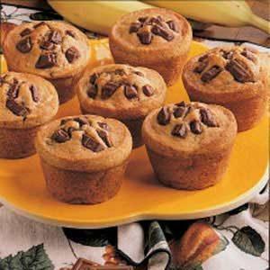 Fudgy Banana Muffins Recipe