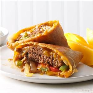 Fajita Burger Wraps Recipe