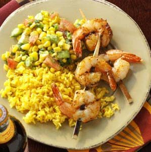 Southwestern Shrimp with Salsa Recipe