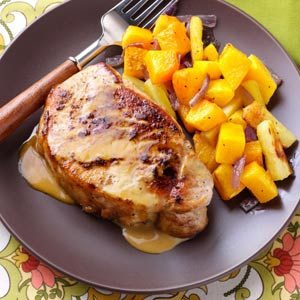 Pork Chops in a Honey-Mustard Sauce Recipe