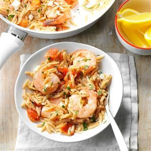 Shrimp Orzo with Feta Recipe