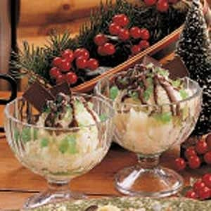 Festive Mint Sundaes Recipe