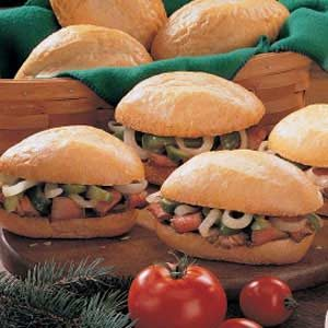 Pepper Steak Sandwiches Recipe