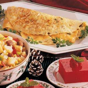 Hash Brown Cheese Omelet Recipe