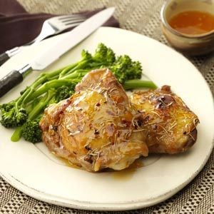 Spicy Apricot Chicken Thighs Recipe photo by Taste of Home