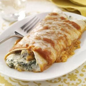 Artichoke & Spinach Enchiladas Recipe