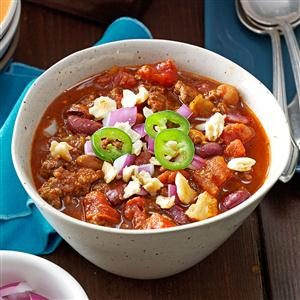 Spicy Touchdown Chili Recipe