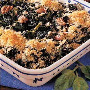 Spinach Pecan Bake Recipe