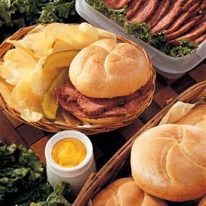 Glazed Corned Beef Sandwiches Recipe