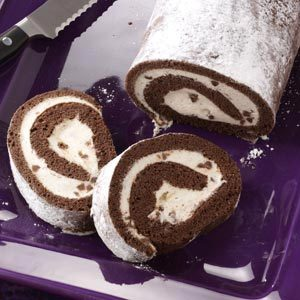 Chocolate Cannoli Cake Roll