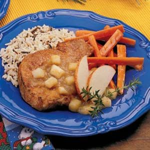 Applesauce Pork Chops Recipe
