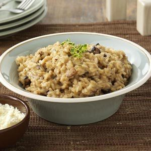 Portobello Risotto with Mascarpone Recipe