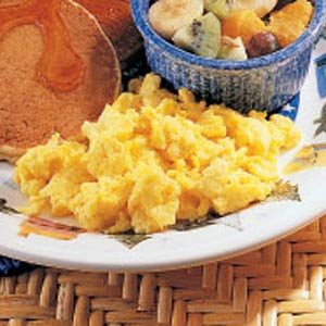 Scrambled Homemade Egg Substitute Recipe