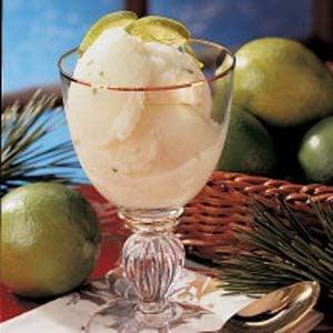 Refreshing Lime Sherbet