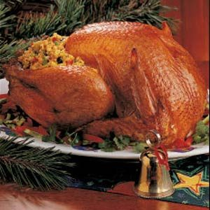 Turkey with Corn Bread Stuffing Recipe