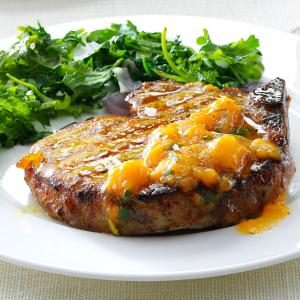 Grilled Curry Pork Chops with Apricot Sauce Recipe