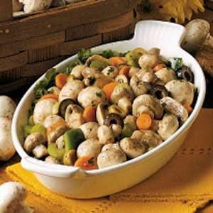 Savory Marinated Mushroom Salad