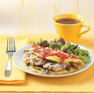 Italian Pizza Omelet Recipe